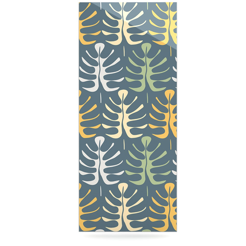 "Julia Grifol ""My Leaves on Blue"" Luxe Rectangle Panel - KESS InHouse  - 1"