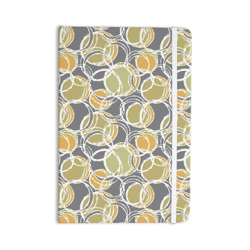 "Julia Grifol ""Simple Circles in Grey"" Everything Notebook - KESS InHouse  - 1"