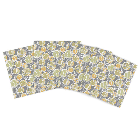 "Ebi Emporium ""Tangled Up 1""  Indoor/Outdoor Place Mat (Set of 4) - Outlet Item"