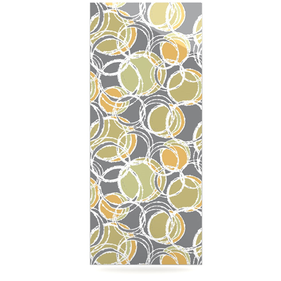 "Julia Grifol ""Simple Circles in Grey"" Luxe Rectangle Panel - KESS InHouse  - 1"