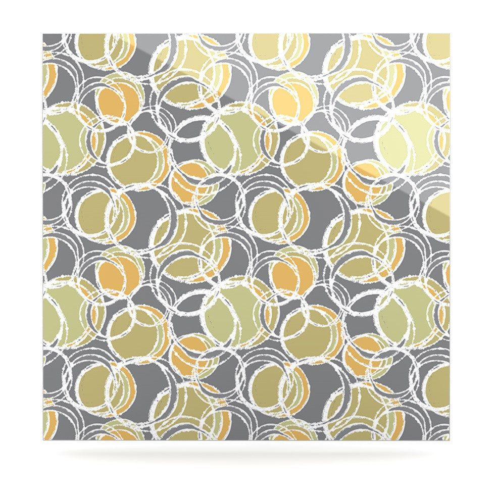 "Julia Grifol ""Simple Circles in Grey"" Luxe Square Panel - KESS InHouse  - 1"