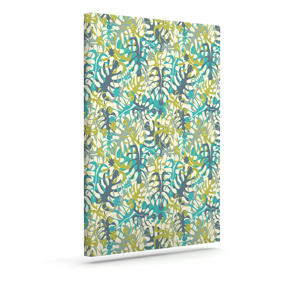 "Julia Grifol ""Tropical Leaves"" Outdoor Canvas Wall Art - KESS InHouse  - 1"