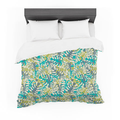 "julia grifol ""Tropical Leaves""  Featherweight Duvet Cover - Outlet Item"