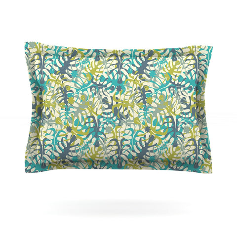 "Julia Grifol ""Tropical Leaves"" Pillow Sham - Outlet Item"