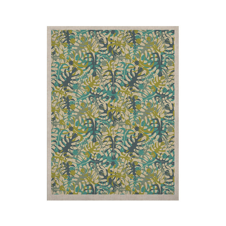 "Julia Grifol ""Tropical Leaves"" KESS Naturals Canvas (Frame not Included) - KESS InHouse  - 1"
