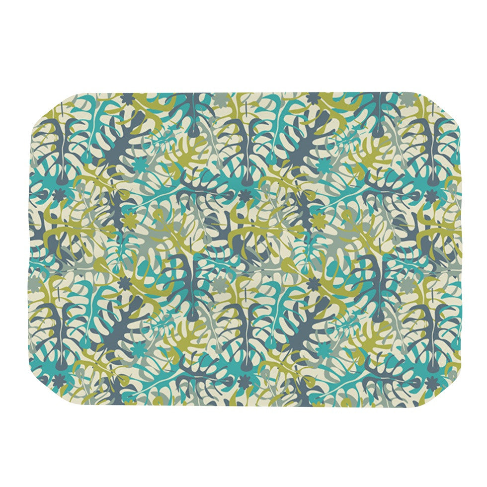 "Julia Grifol ""Tropical Leaves"" Place Mat - KESS InHouse"