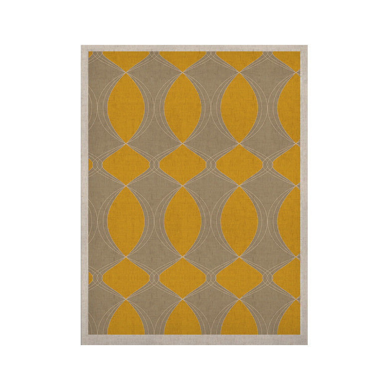 "Julia Grifol ""Geometries in Yellow"" KESS Naturals Canvas (Frame not Included) - KESS InHouse  - 1"