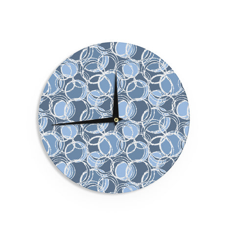 "Julia Grifol ""Simple Circles in Blue"" Wall Clock - KESS InHouse"
