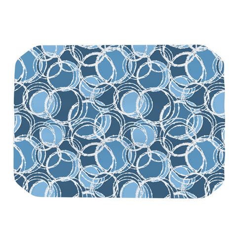 "Julia Grifol ""Simple Circles in Blue"" Place Mat - KESS InHouse"