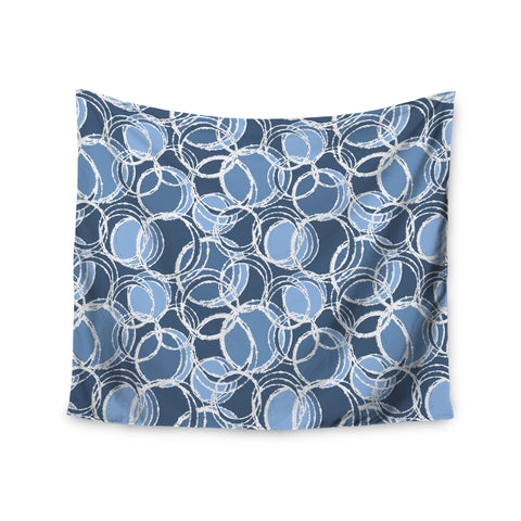 "Julia Grifol ""Simple Circles in Blue"" Wall Tapestry - KESS InHouse  - 1"