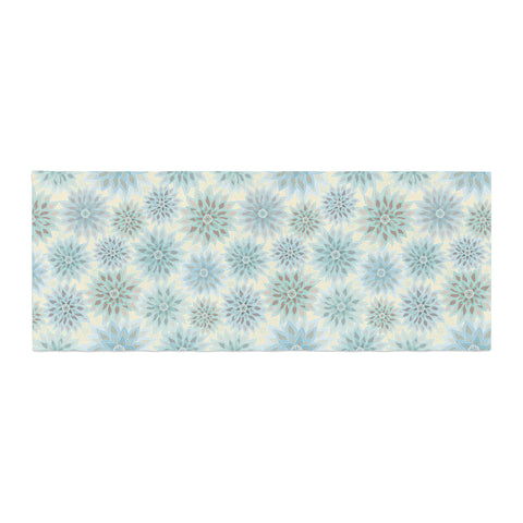 "Julia Grifol ""My Delicate Flowers"" Blue Green Bed Runner - KESS InHouse"