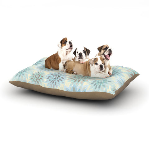 "Julia Grifol ""My Delicate Flowers"" Blue Green Dog Bed - KESS InHouse  - 1"
