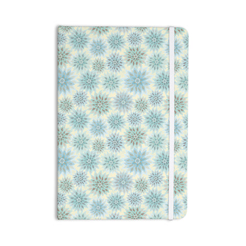 "Julia Grifol ""My Delicate Flowers"" Blue Green Everything Notebook - KESS InHouse  - 1"