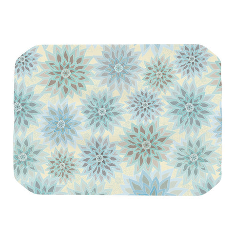"Julia Grifol ""My Delicate Flowers"" Blue Green Place Mat - KESS InHouse"
