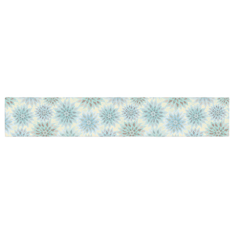 "Julia Grifol ""My Delicate Flowers"" Blue Green Table Runner - KESS InHouse  - 1"