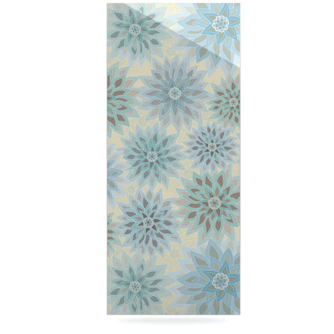 "Julia Grifol ""My Delicate Flowers"" Blue Green Luxe Rectangle Panel - KESS InHouse  - 1"
