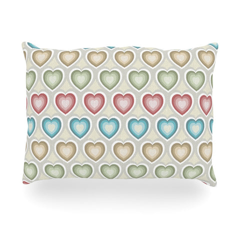 "Julia Grifol ""My Hearts"" Multicolor Oblong Pillow - KESS InHouse"