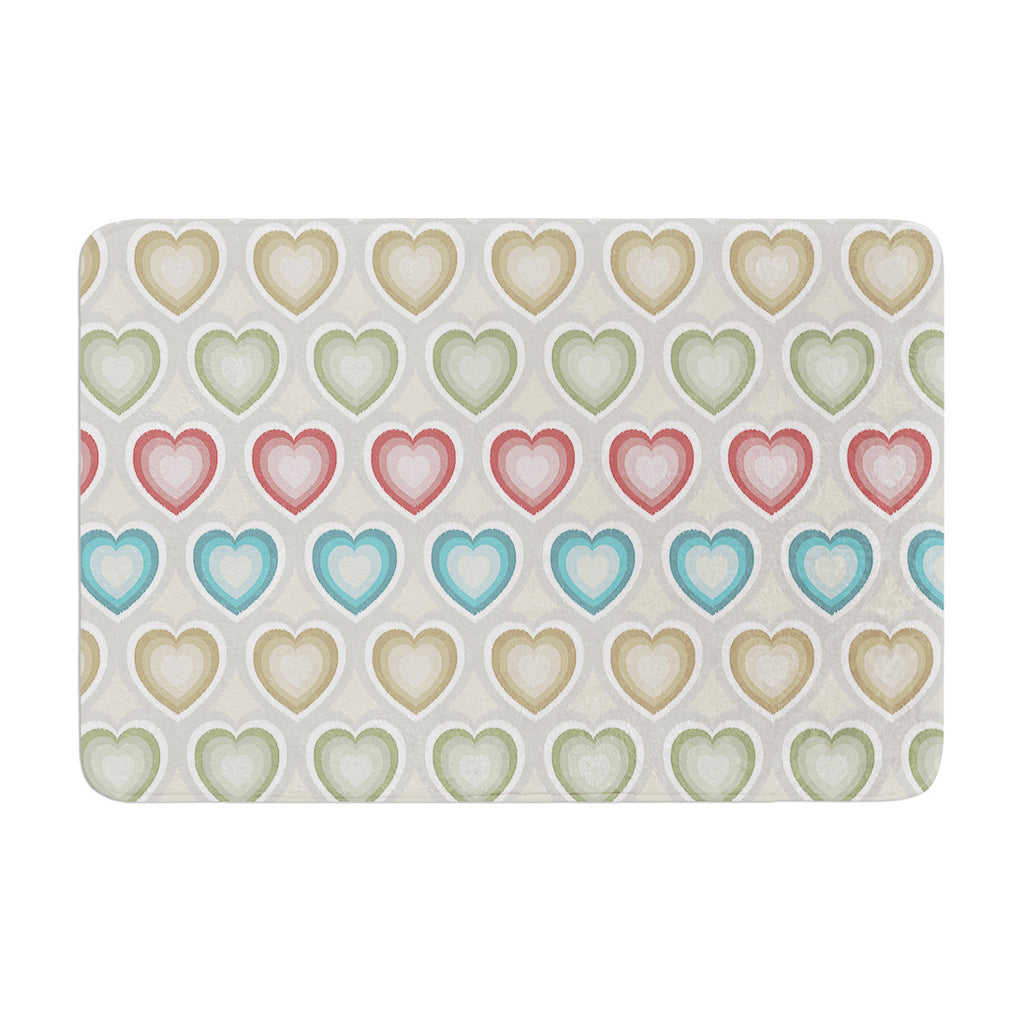 "Julia Grifol ""My Hearts"" Multicolor Memory Foam Bath Mat - KESS InHouse"