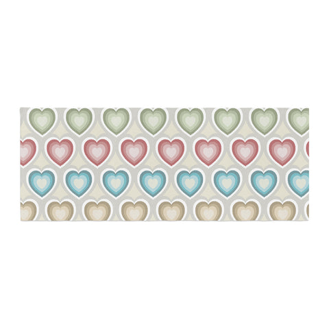 "Julia Grifol ""My Hearts"" Multicolor Bed Runner - KESS InHouse"