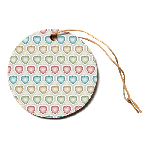 "julia grifol ""My Hearts"" Multicolor Circle Holiday Ornament"