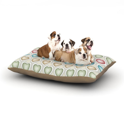 "Julia Grifol ""My Hearts"" Multicolor Dog Bed - KESS InHouse  - 1"