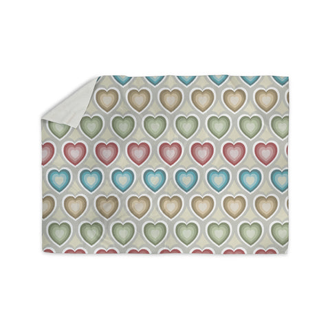 "Julia Grifol ""My Hearts"" Multicolor Sherpa Blanket - KESS InHouse  - 1"