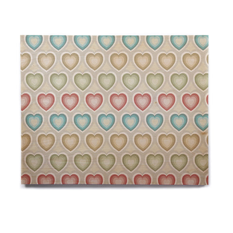 "Julia Grifol ""My Hearts"" Multicolor Birchwood Wall Art - KESS InHouse  - 1"