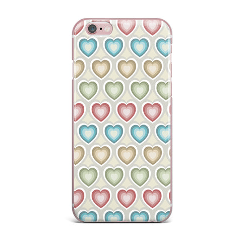"Julia Grifol ""My Hearts"" Multicolor iPhone Case - KESS InHouse"