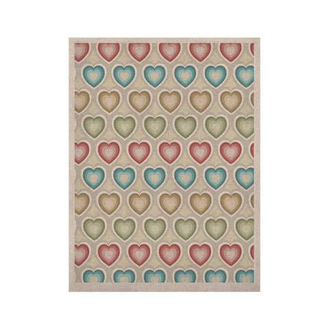 "Julia Grifol ""My Hearts"" Multicolor KESS Naturals Canvas (Frame not Included) - KESS InHouse  - 1"