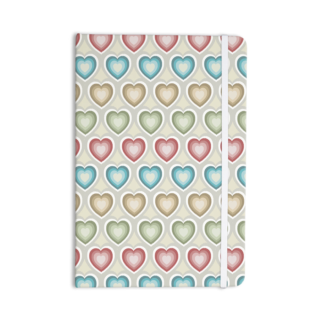 "Julia Grifol ""My Hearts"" Multicolor Everything Notebook - KESS InHouse  - 1"