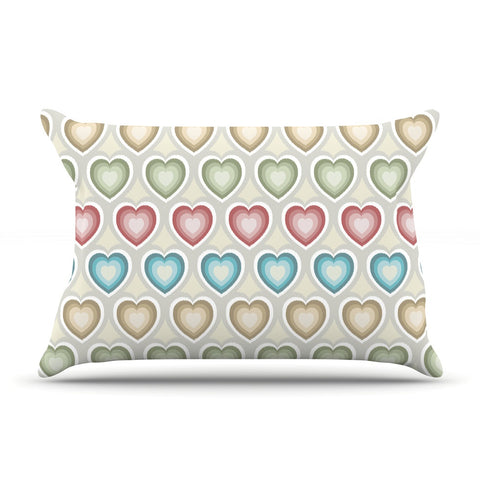 "Julia Grifol ""My Hearts"" Multicolor Pillow Sham - KESS InHouse"