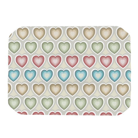 "Julia Grifol ""My Hearts"" Multicolor Place Mat - KESS InHouse"