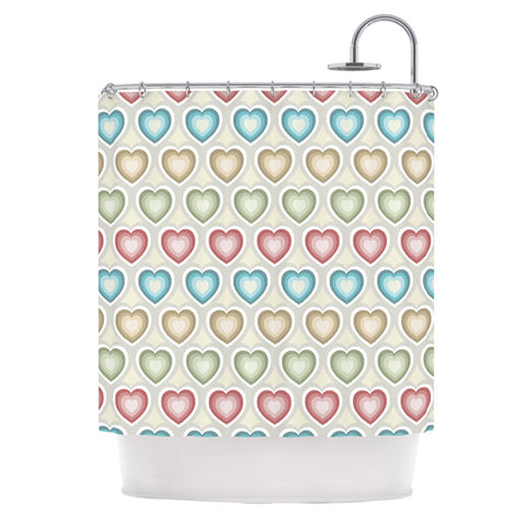 "Julia Grifol ""My Hearts"" Multicolor Shower Curtain - KESS InHouse"