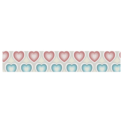 "Julia Grifol ""My Hearts"" Multicolor Table Runner - KESS InHouse  - 1"