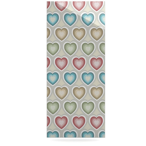 "Julia Grifol ""My Hearts"" Multicolor Luxe Rectangle Panel - KESS InHouse  - 1"