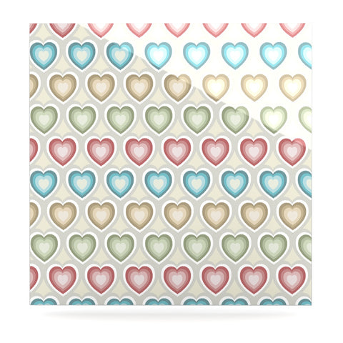 "Julia Grifol ""My Hearts"" Multicolor Luxe Square Panel - KESS InHouse  - 1"