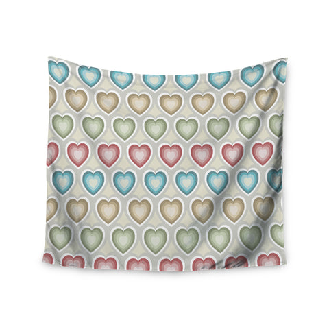 "Julia Grifol ""My Hearts"" Multicolor Wall Tapestry - KESS InHouse  - 1"