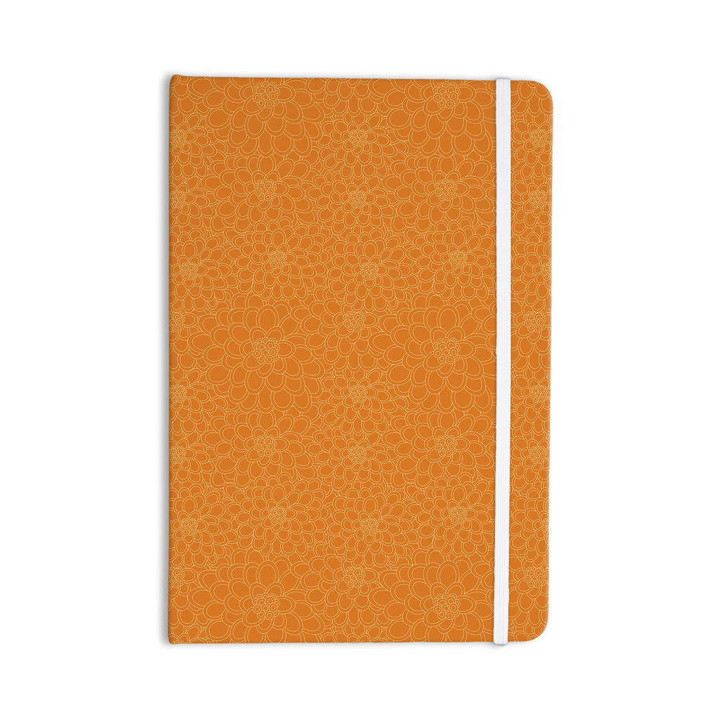 "Julia Grifol ""Orange Flowers"" Everything Notebook - KESS InHouse  - 1"