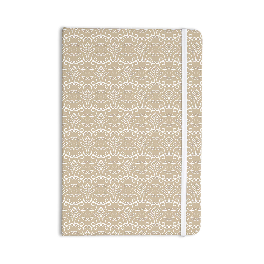 "Julia Grifol ""Soft Deco"" Brown Tan Everything Notebook - KESS InHouse  - 1"