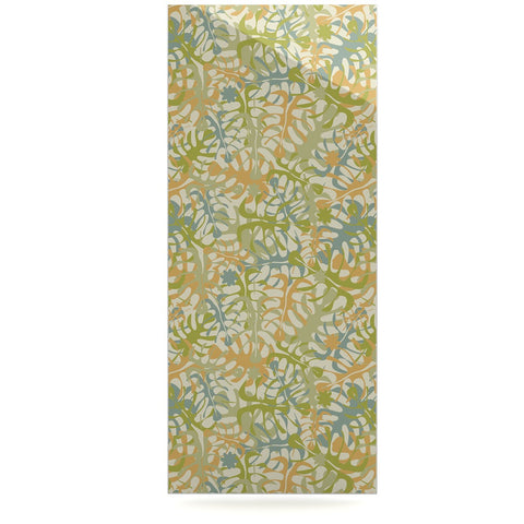 "Julia Grifol ""Warm Tropical Leaves"" Green Orange Luxe Rectangle Panel - KESS InHouse  - 1"