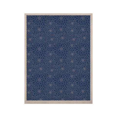 "Julia Grifol ""White Flowers on Blue"" Navy Blue KESS Naturals Canvas (Frame not Included) - KESS InHouse  - 1"