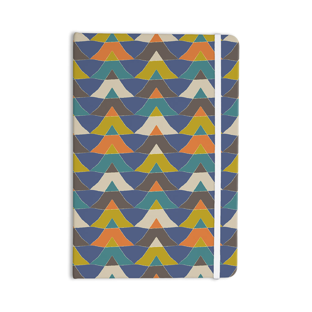 "Julia Grifol ""Colorful Triangles"" Blue Multicolor Everything Notebook - KESS InHouse  - 1"