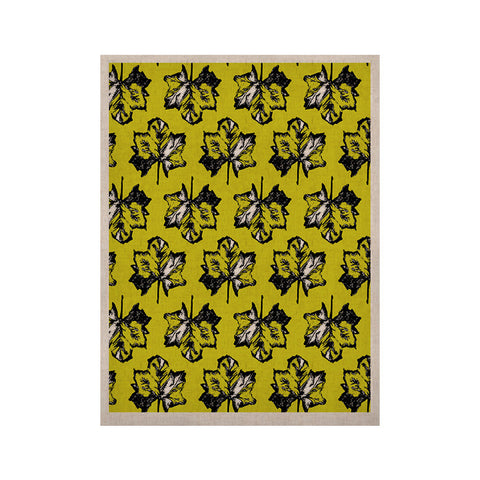 "Julia Grifol ""Green Tree Leaves"" Yellow KESS Naturals Canvas (Frame not Included) - KESS InHouse  - 1"
