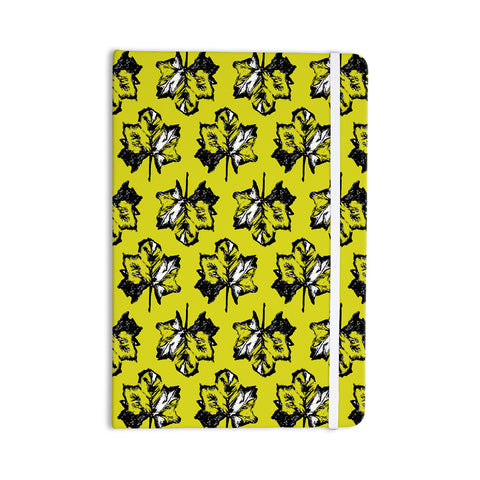 "Julia Grifol ""Green Tree Leaves"" Yellow Everything Notebook - KESS InHouse  - 1"