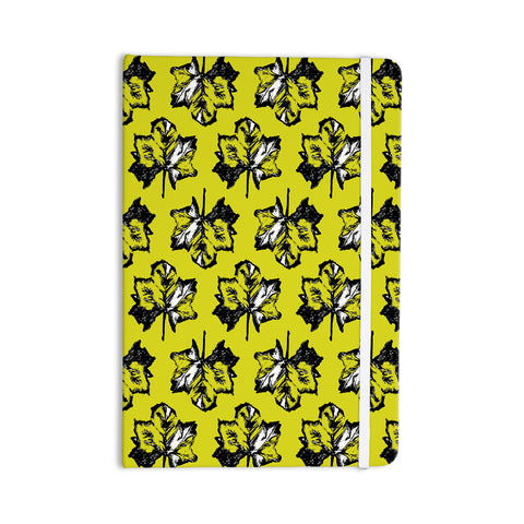 "julia grifol ""Green Tree Leaves"" Yellow Everything Notebook - Outlet Item"