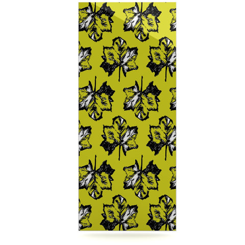 "Julia Grifol ""Green Tree Leaves"" Yellow Luxe Rectangle Panel - KESS InHouse  - 1"