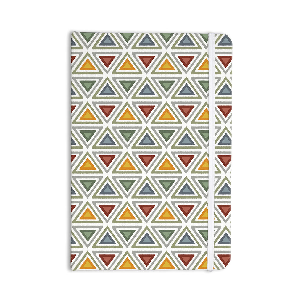 "Julia Grifol ""Ikat Triangles"" Multicolor Everything Notebook - KESS InHouse  - 1"