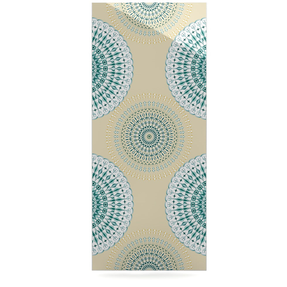 "Julia Grifol ""Soft Mandalas"" Green Yellow Luxe Rectangle Panel - KESS InHouse  - 1"