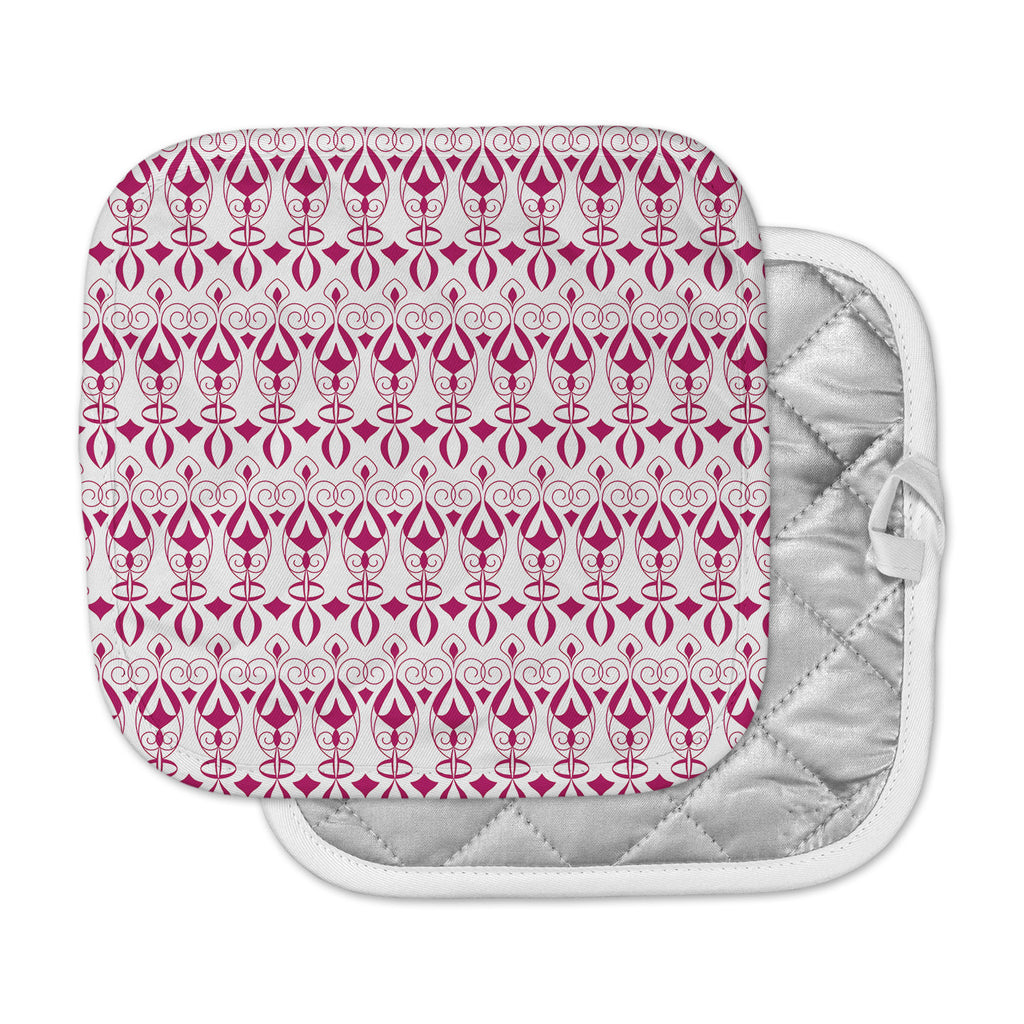 "Julia Grifol ""Warm Deco"" Pink White Pot Holder"