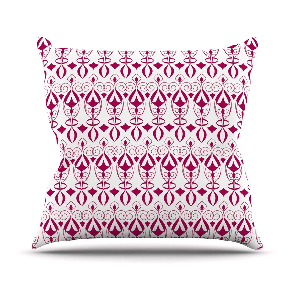 "Julia Grifol ""Warm Deco"" Pink White Throw Pillow - KESS InHouse  - 1"